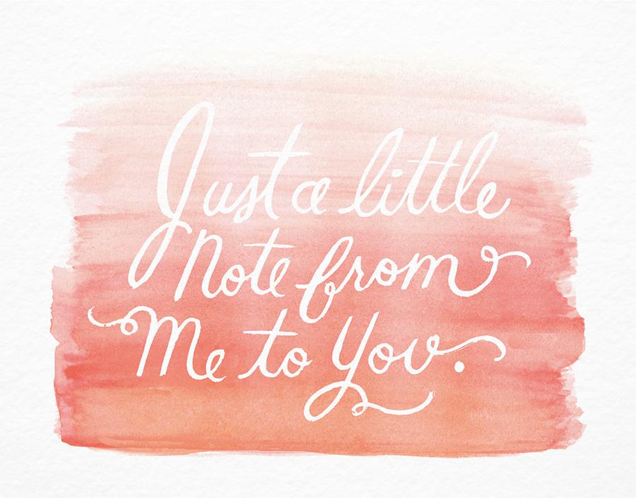 Peach Watercolor Hello Card