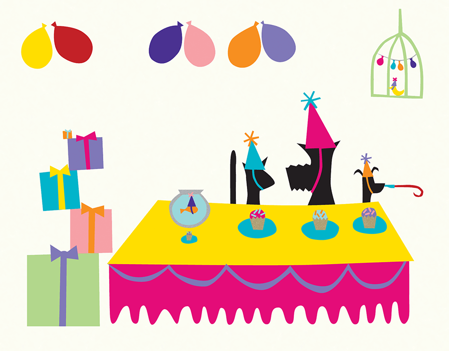 Animal Party Birthday Card