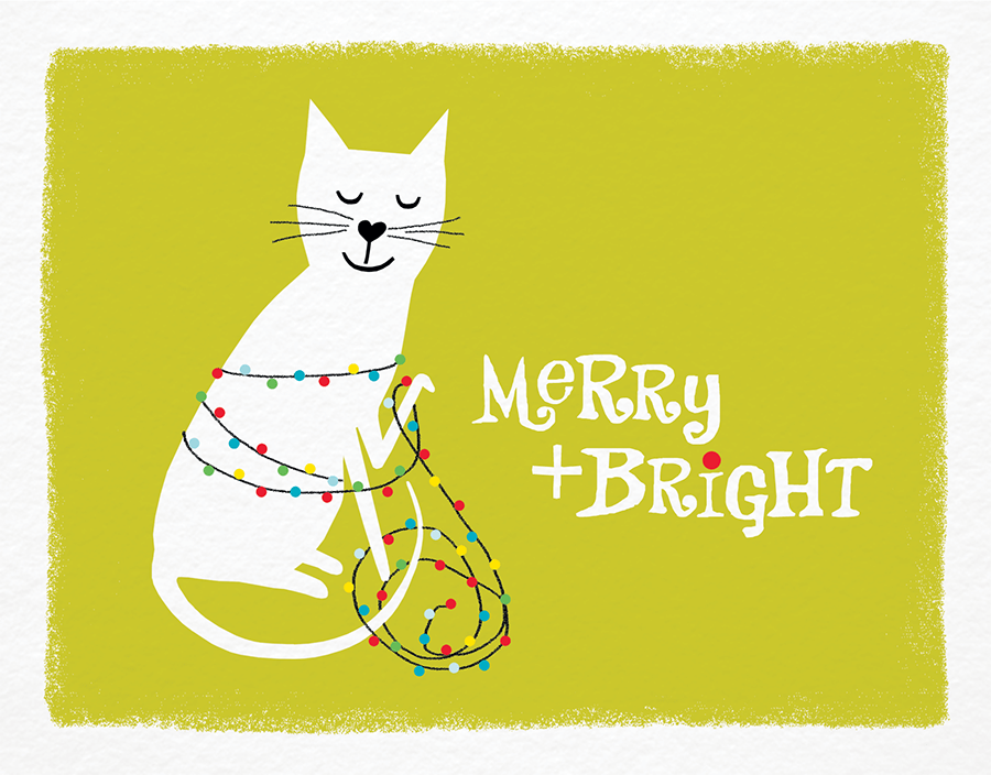 Kitten Holiday Card