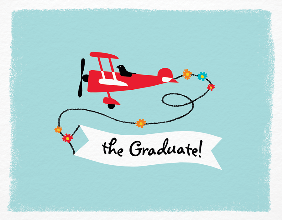 Plane Graduation Congrats Card