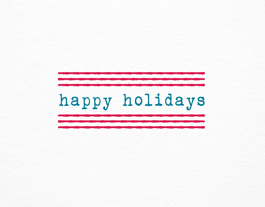 Minimal Happy Holidays Card
