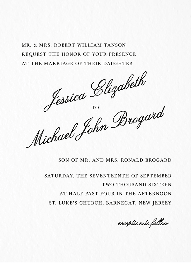 Formal Script Invite