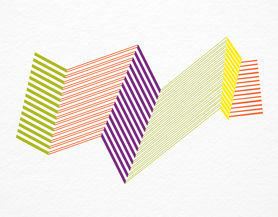 Crazy Chevron Stationery
