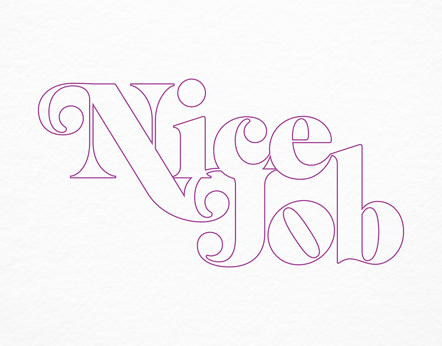Typographic Nice Job Card