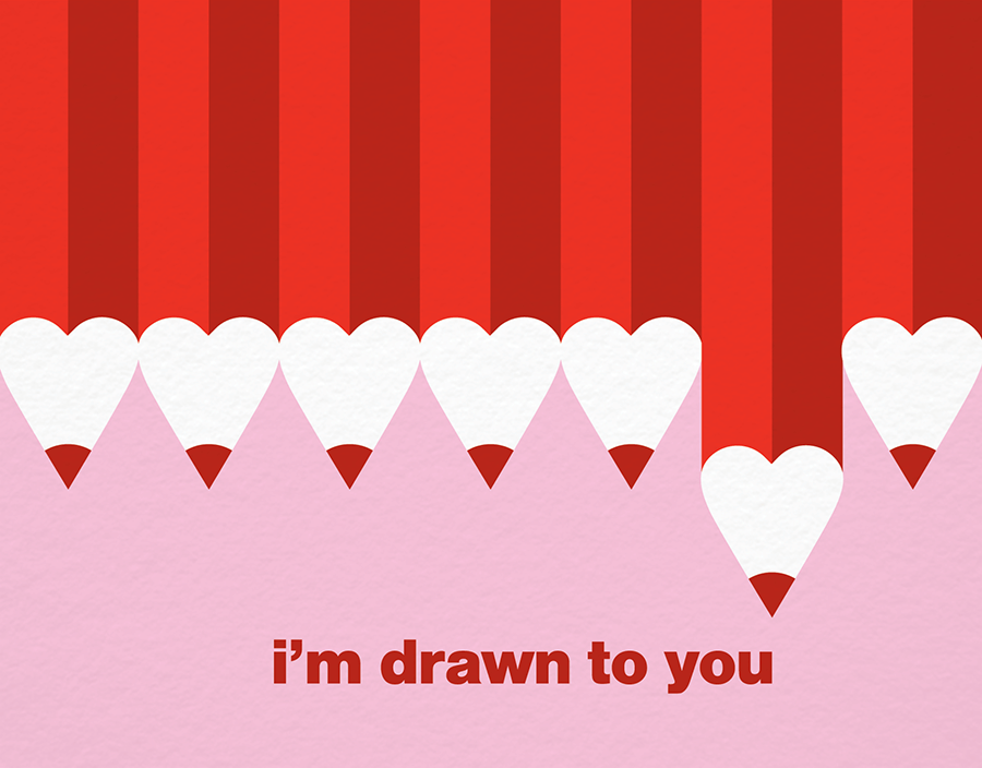 Drawn to You Love Card