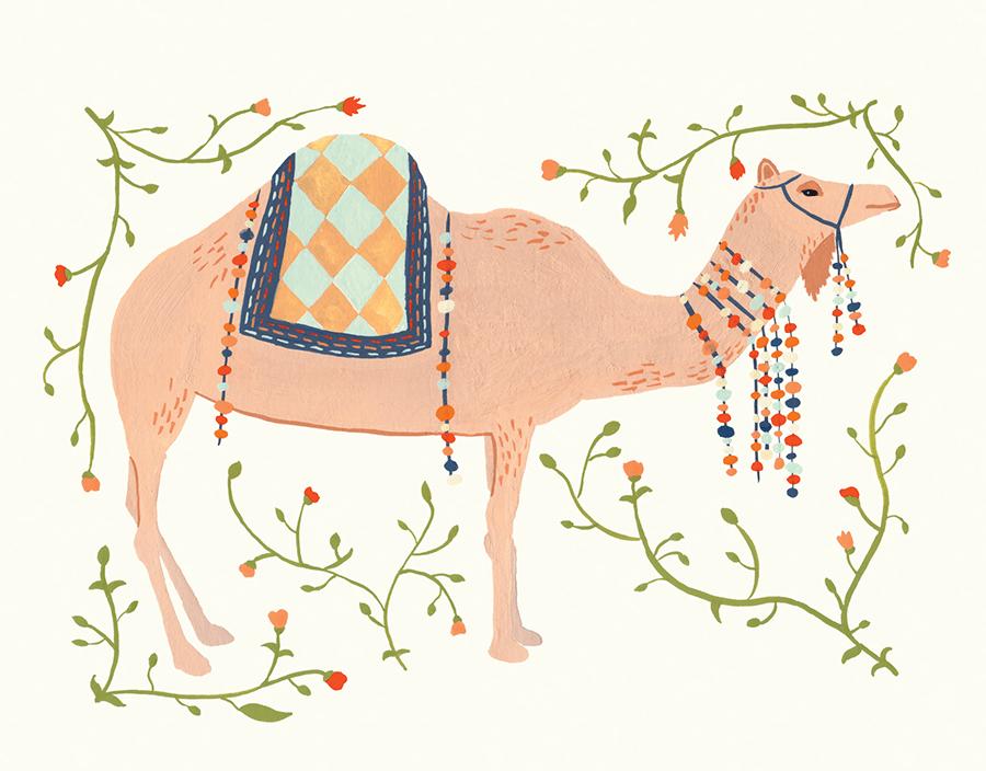Decorative Camel Card