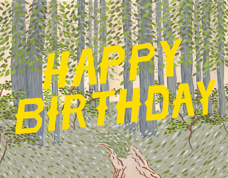 Happy Birthday Forest By Small Adventure Postable