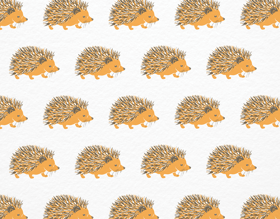 Hedgehog Patterned Stationery