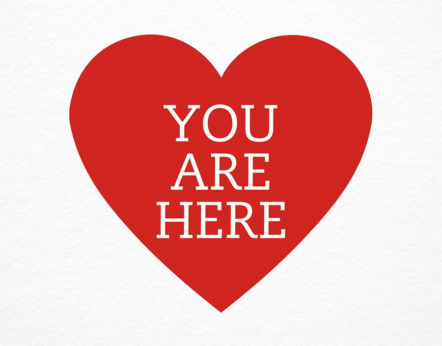 Modern Heart Love Card