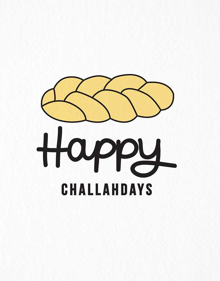 Happy Challahdays Holiday Card