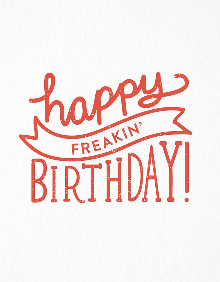Banner Happy Freakin Birthday Card
