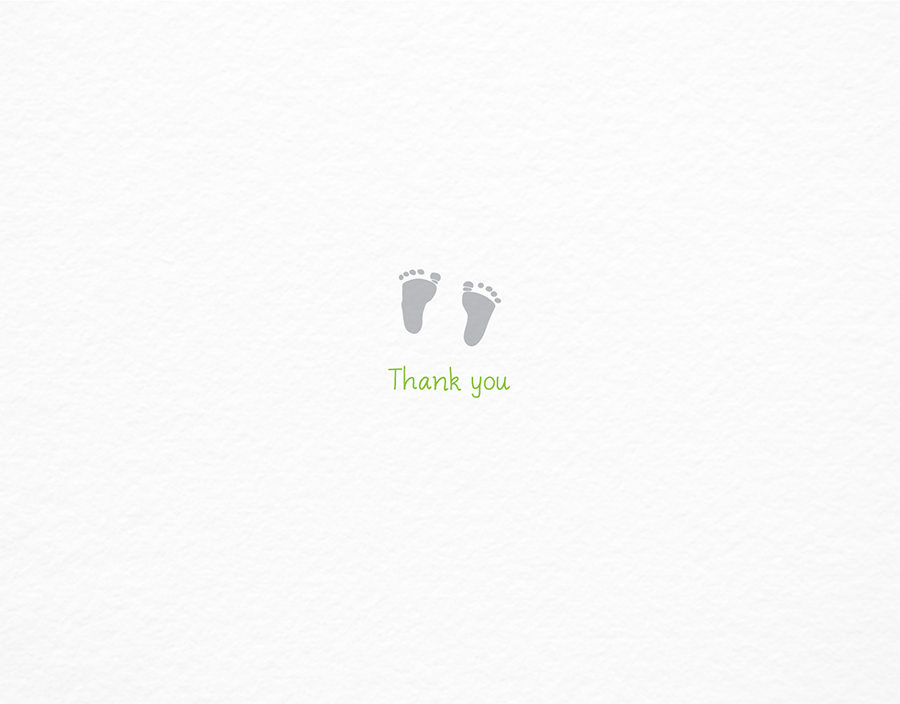 Tiny Footprints Thank You Card