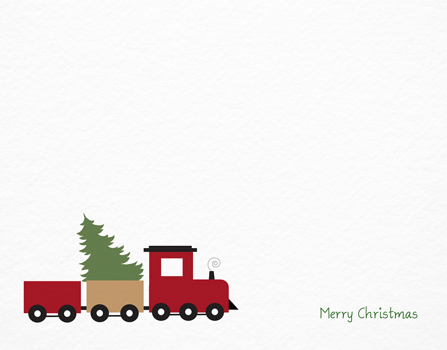 Toy Train and Tree Christmas Card