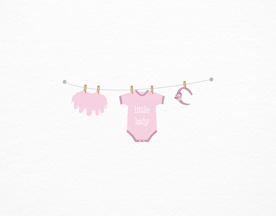 Little Lady Newborn Greeting Card