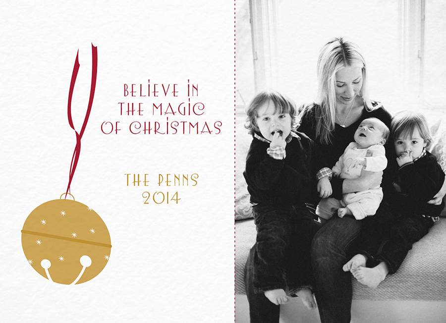 Believe in Magic Christmas Card