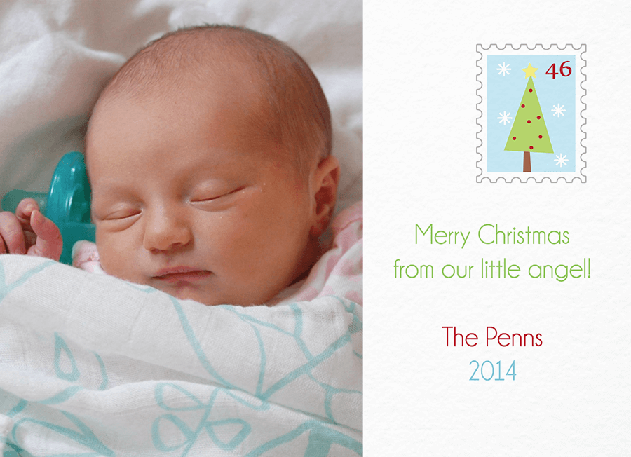Little Angel Custom Christmas Card