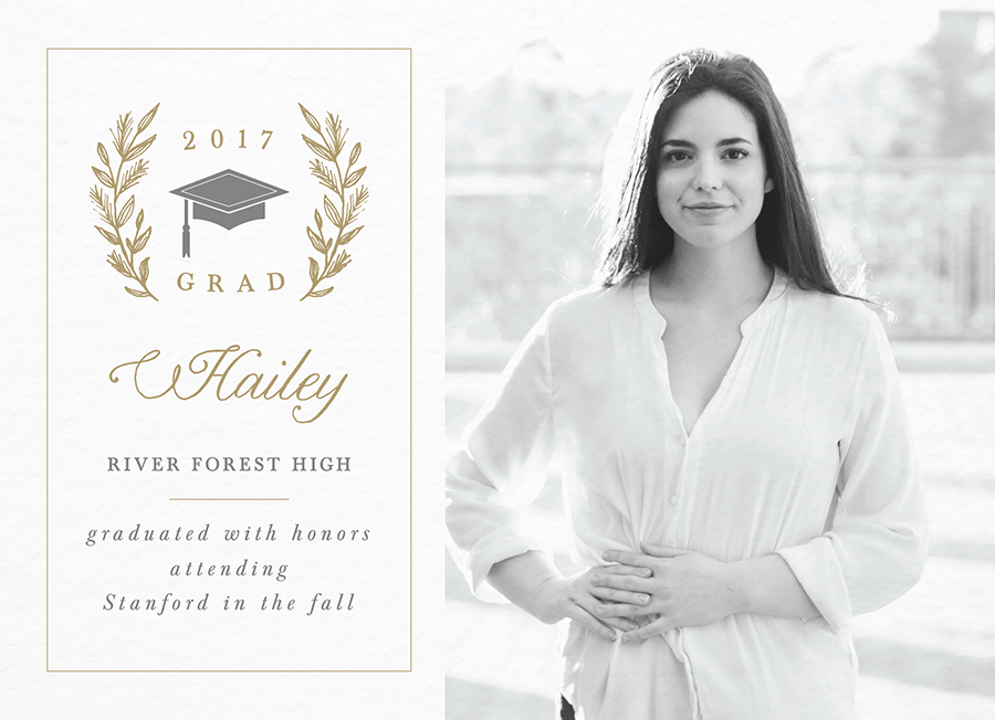 Laurel Graduation Announcement