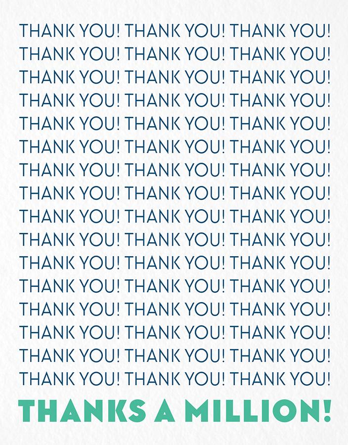 Thanks a Million Card