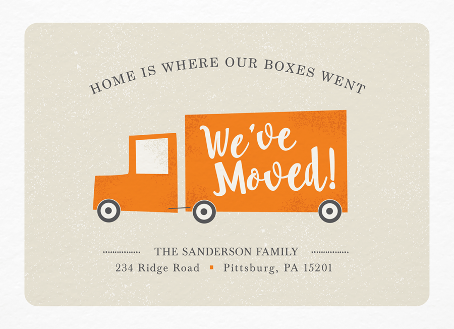 Moving Truck New Address
