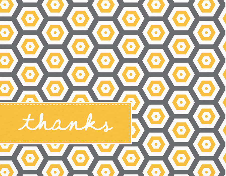 Honeycomb Pattern Thank You Card
