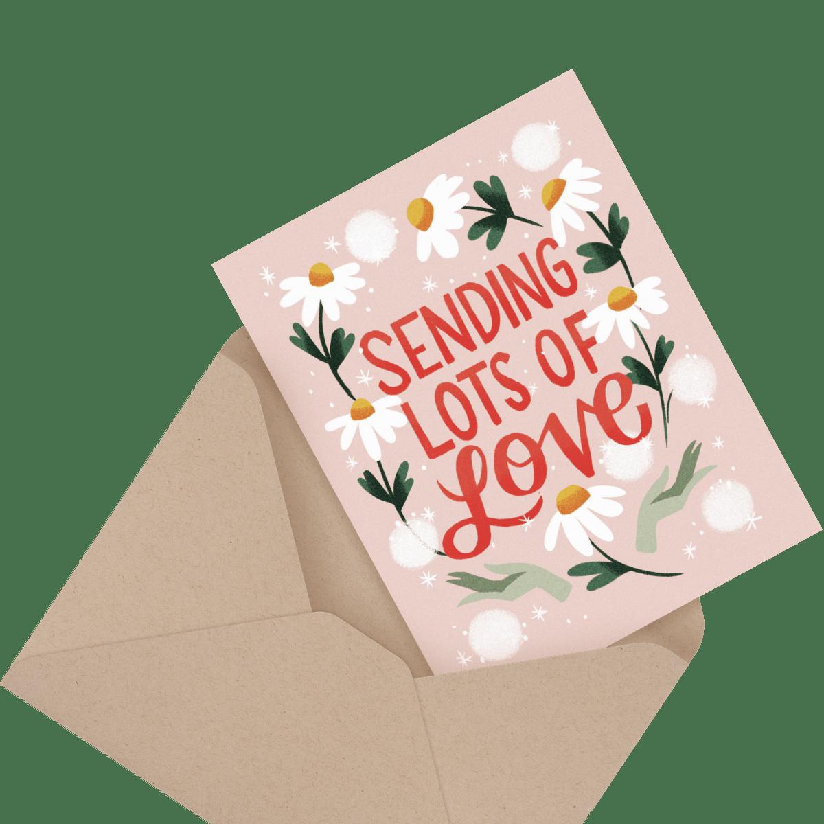 Sending lot's of love card