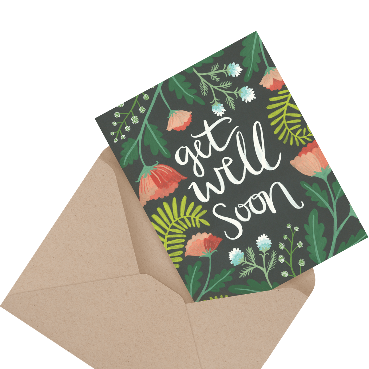 cute bandaids get well soon card