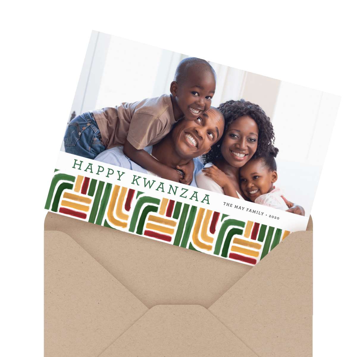 kwanzaa stripes card