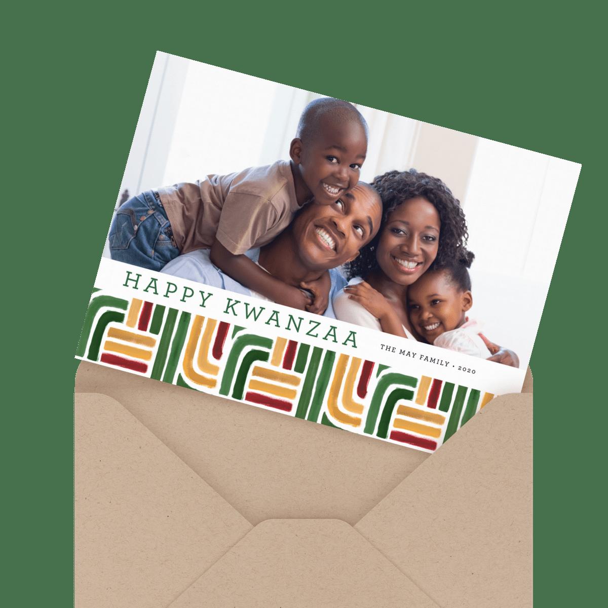 kwanzaa stripes card