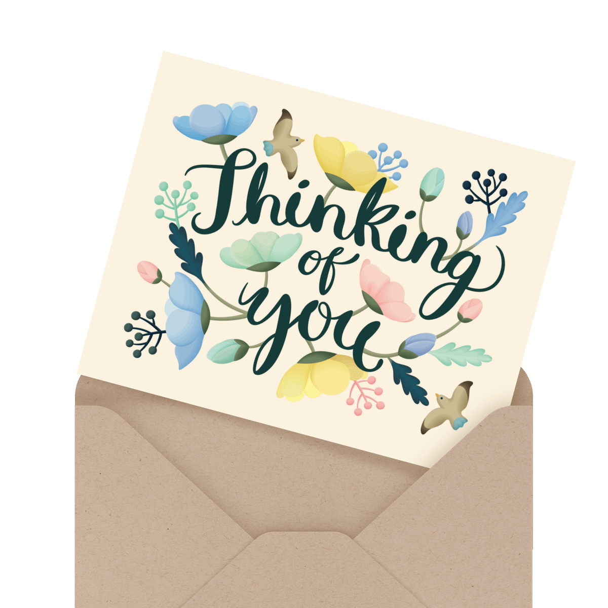 beautiful thinking of you sympathy card