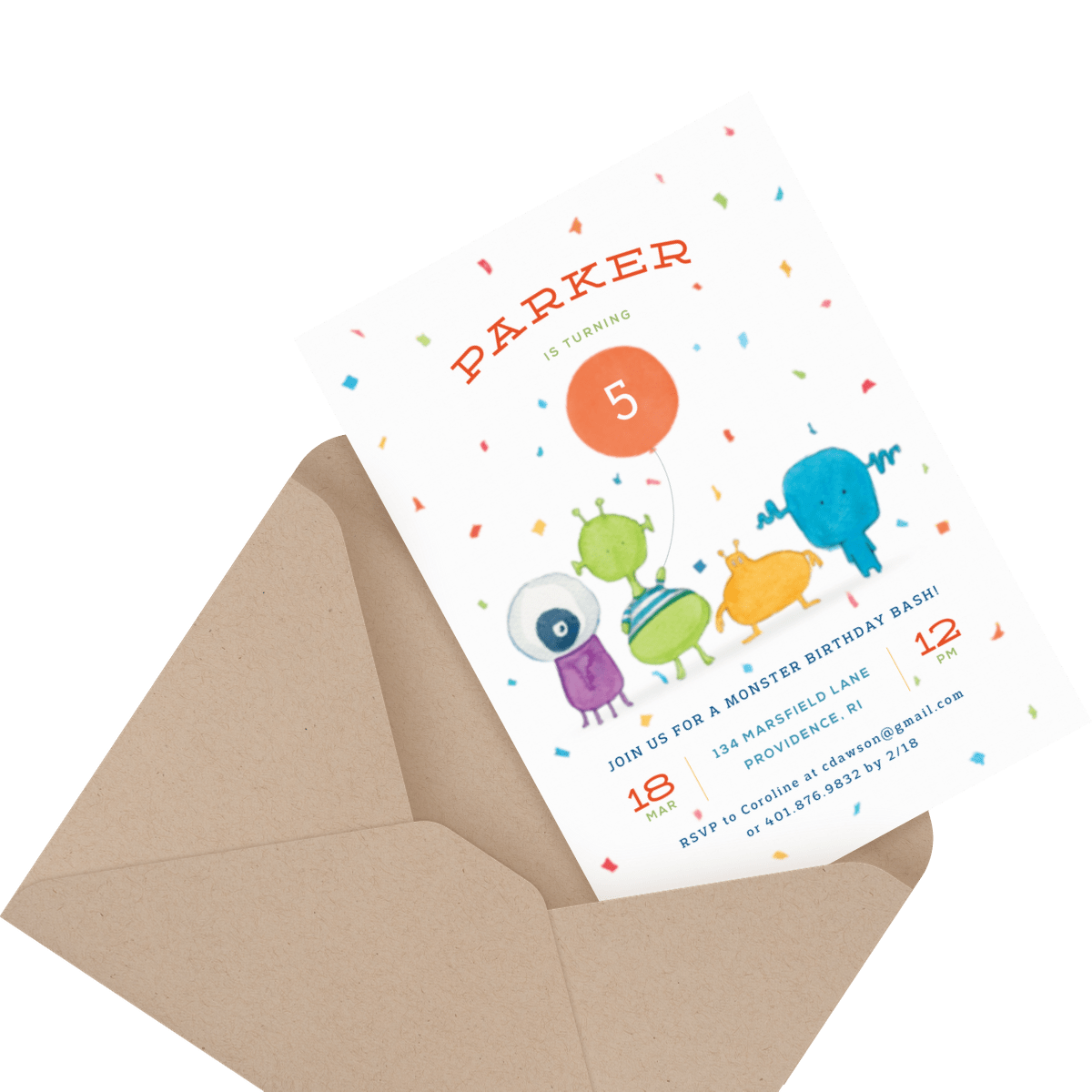 children's train birthday party invite
