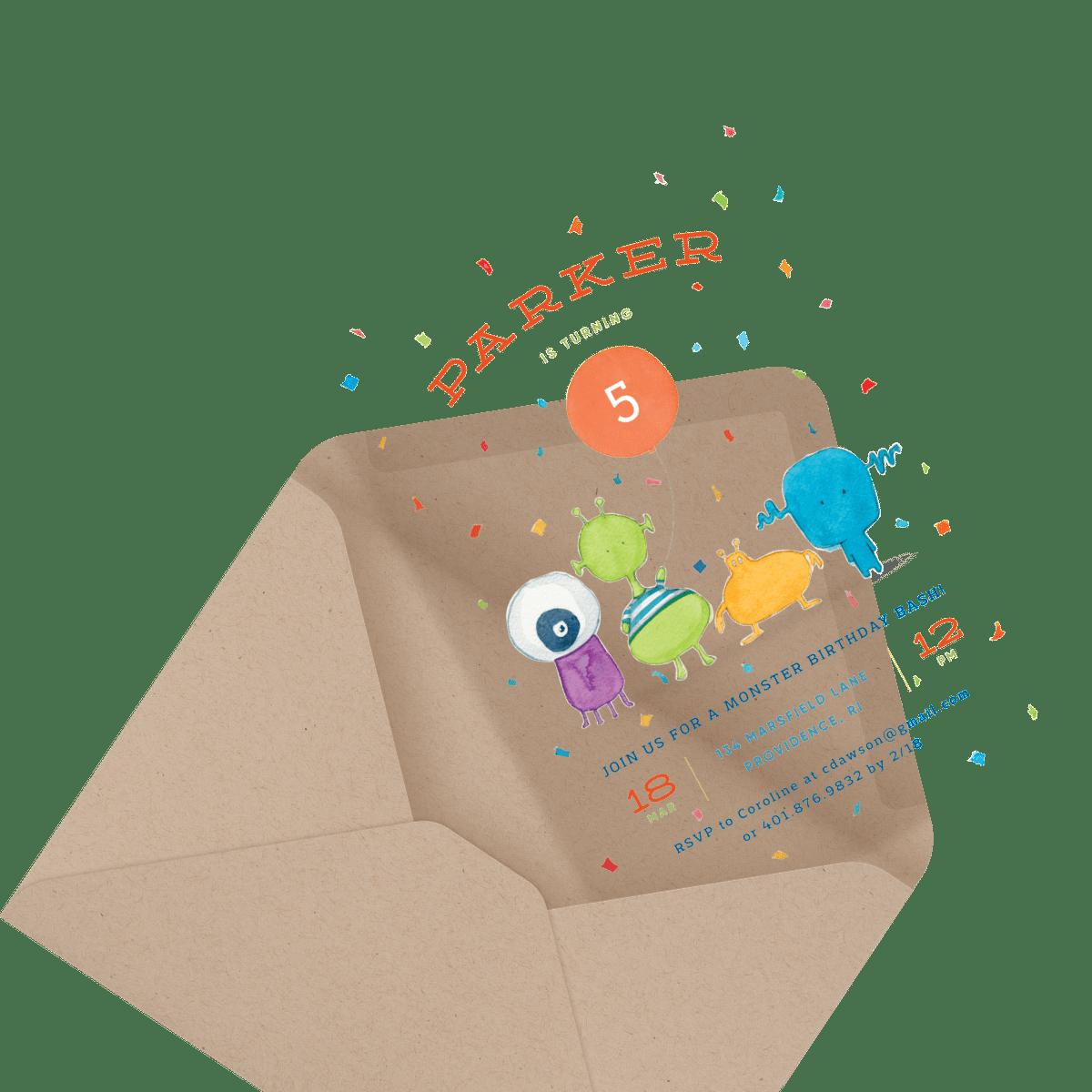 children's train birthday party invite