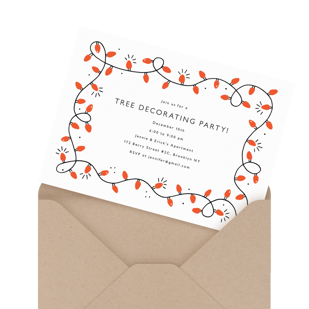 cheerful new years eve holiday party invite