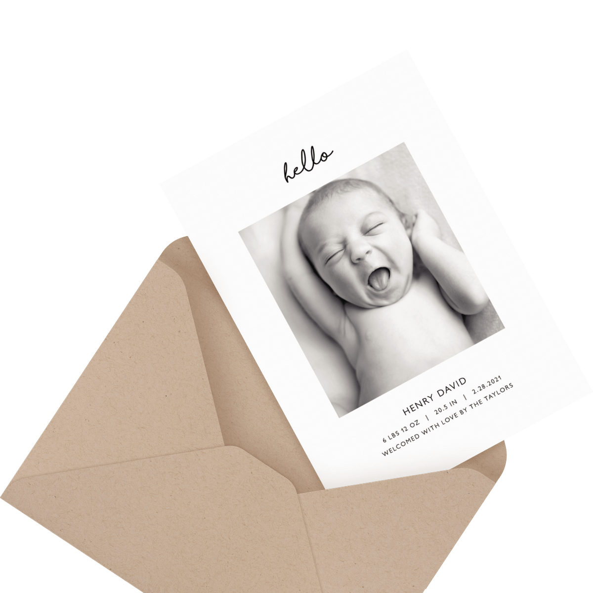 Cute baby cards, mailed for you.
