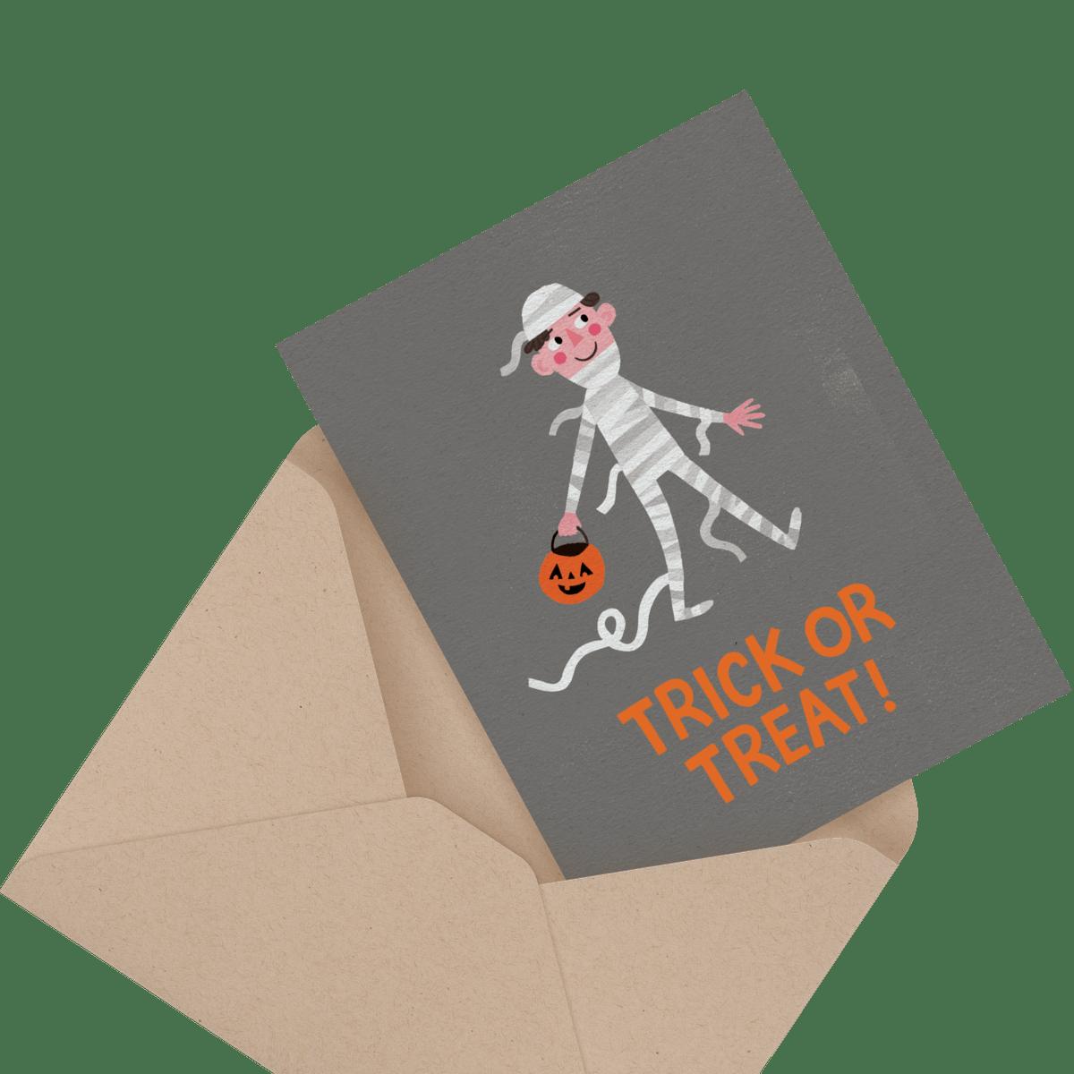 Trick Or Treat Mummy Card