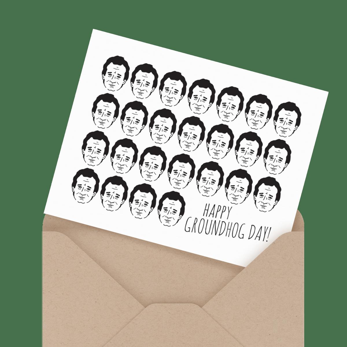 funny bill murray groundhog day card