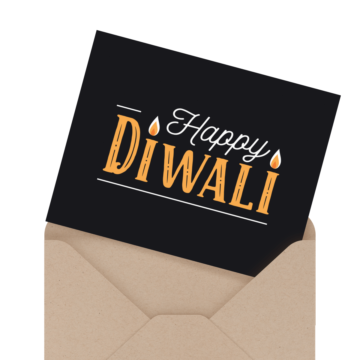 beautiful diwali card
