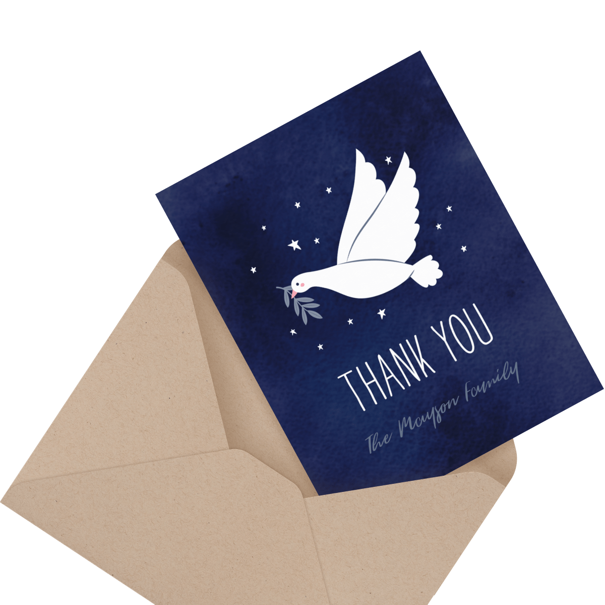 floral religious thank you card