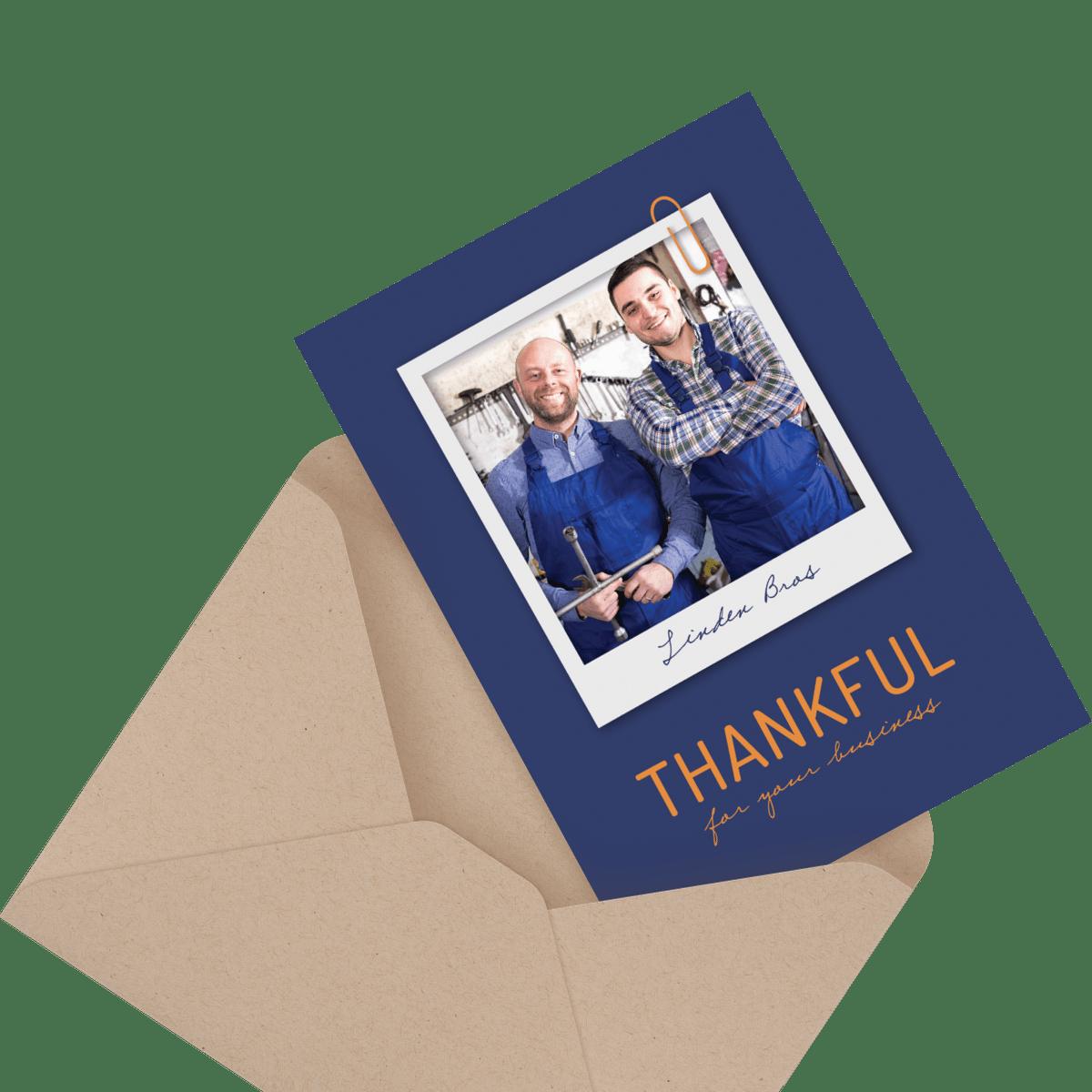 kilim custom business thank you card
