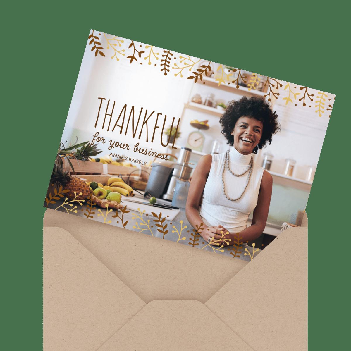 painted turkeys happy thanksgiving card in envelope