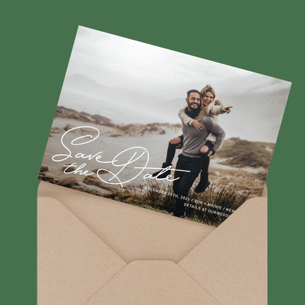 simple custom photo save the date