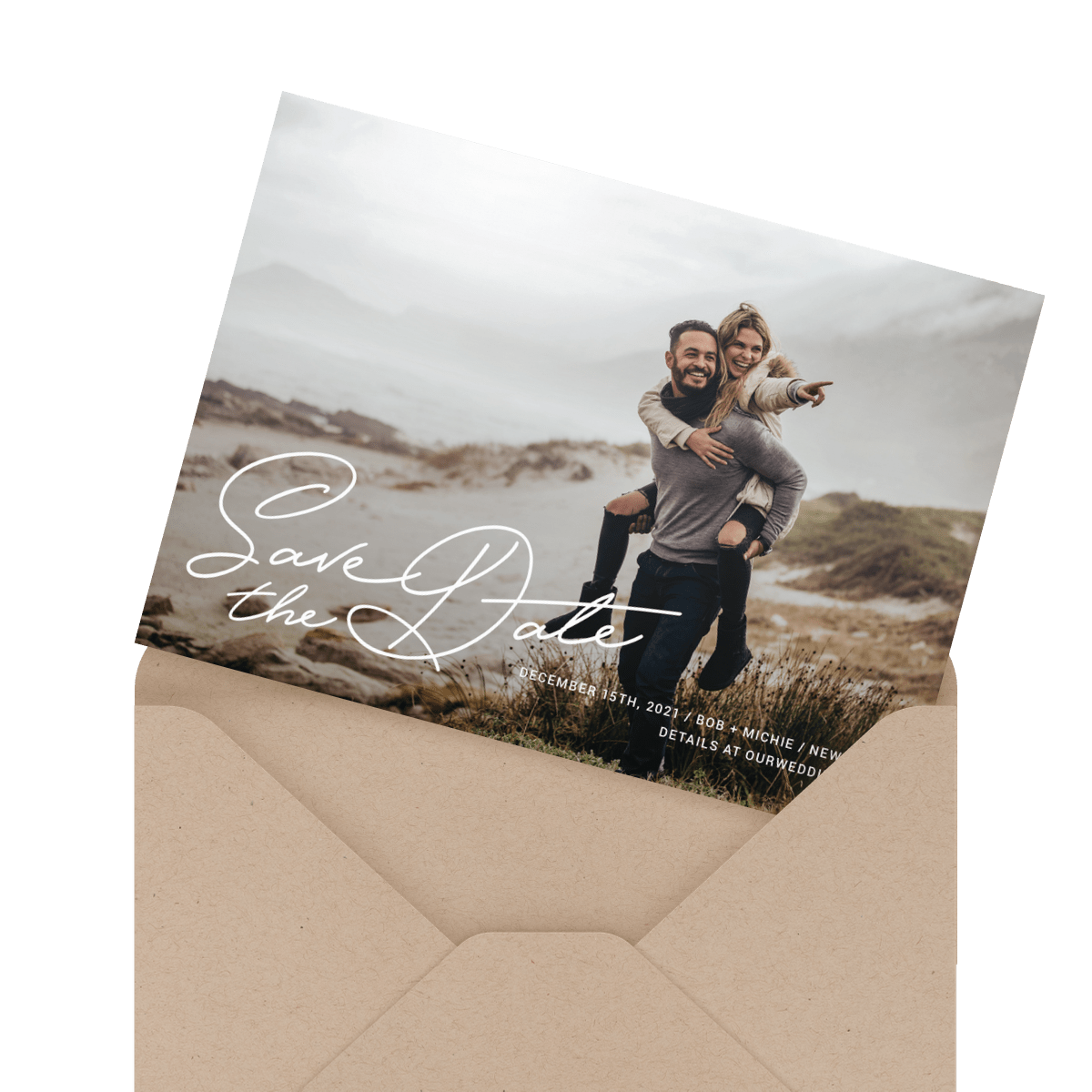 simple custom photo save the date