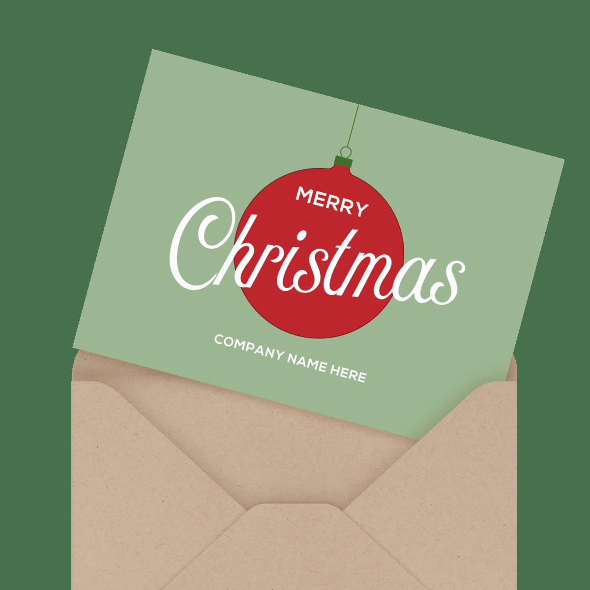 ornament company holiday card