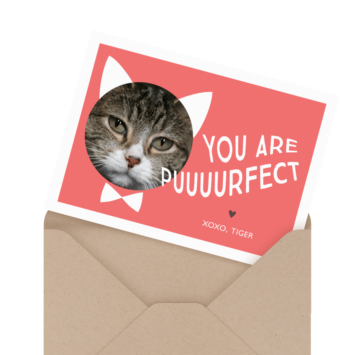 painted valentines day for pet card
