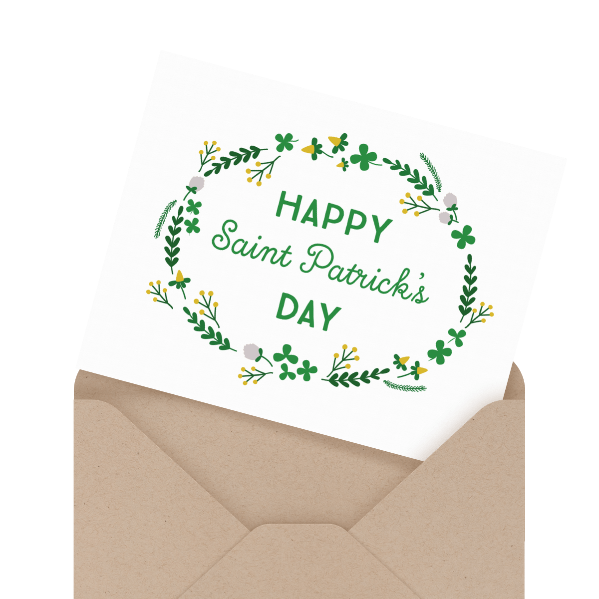 floral st patricks day card