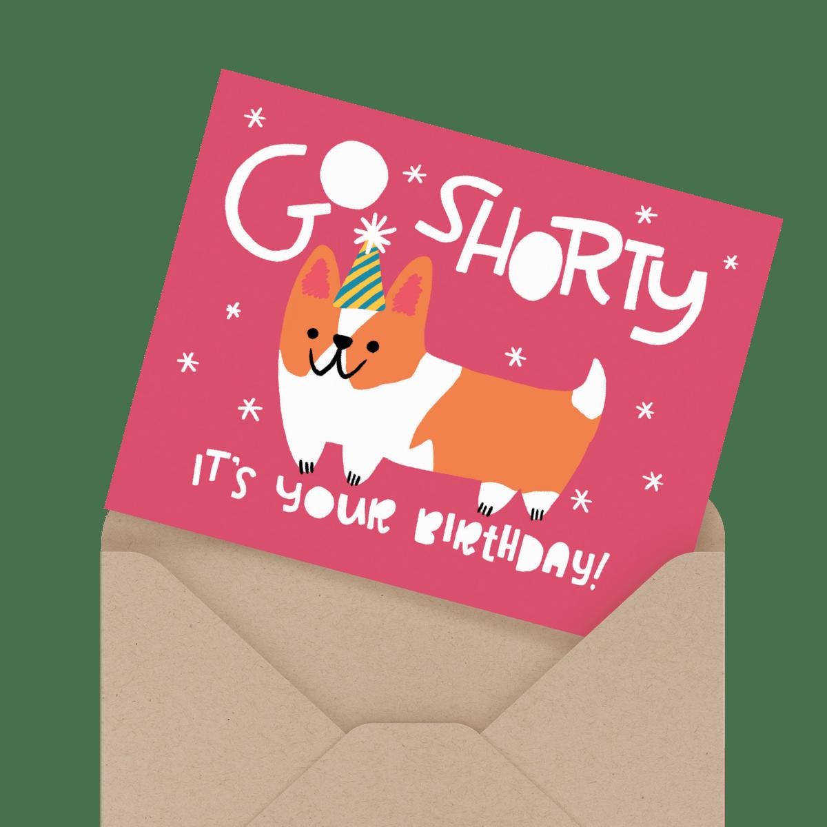 cute painted birthday card