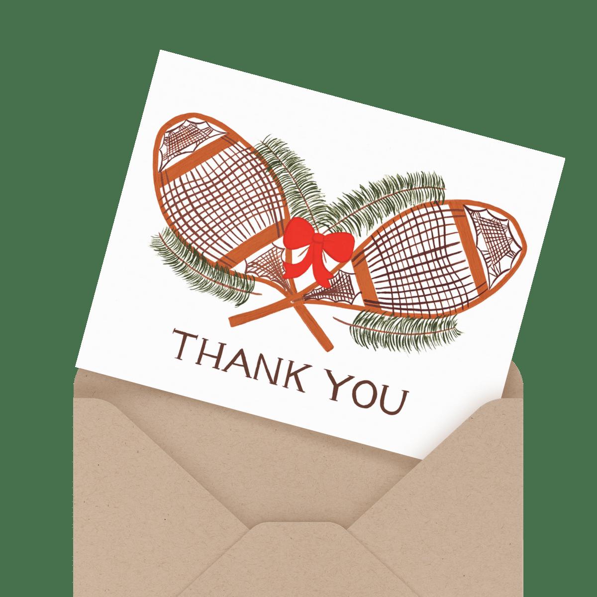 christmas lights holiday thank you card