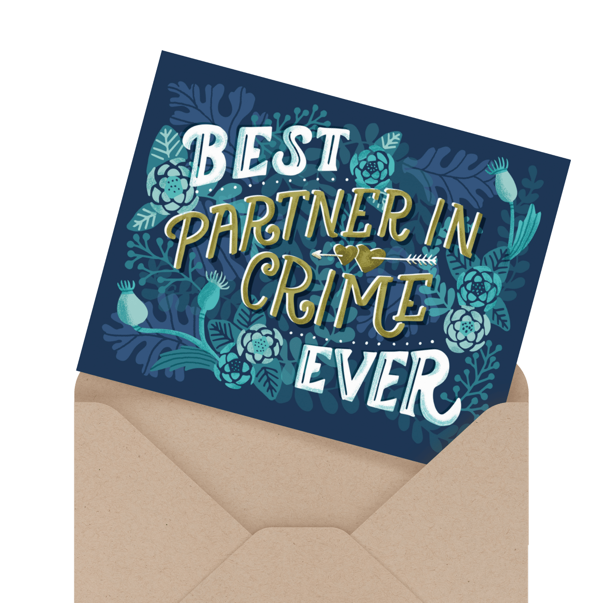 lovely painted you're a keeper card