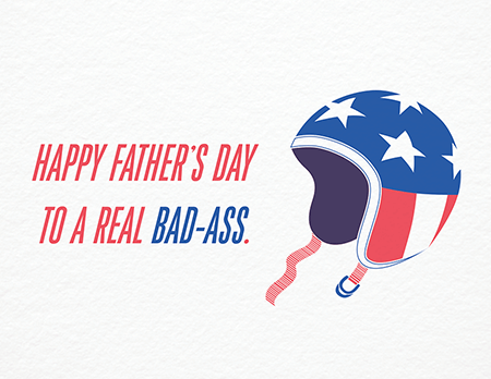 Badass Father's Day Card