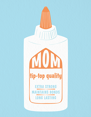 Cute Illustrated Mother's Day Card