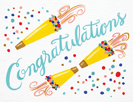 Colorful Congrats Card